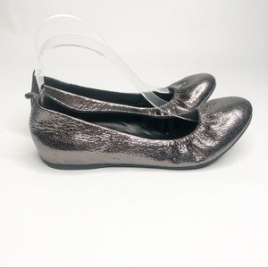 Audrey Brooke Newport Leather Flats Pewter 7.5